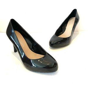 Franco Sarto Round Toe Shiny Leather Heels